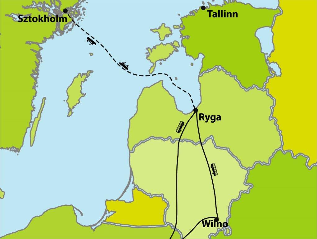 Promem z Rygi do Sztokholmu